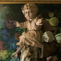 Bohumil Kafka RARE Carved Statue Sculpture St Anthony & Jesus (16 of 32)