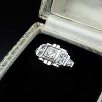 Art Deco French Sterling Silver Spinel Dress Ring (3 of 10)