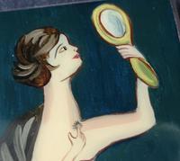 Vintage Art Deco Silver and enamel cigarette case (7 of 13)