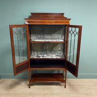 Superb Quality Victorian Inlaid Mahogany Antique Display Cabinet (7 of 7)