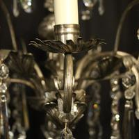 Italian Silver & Crystal Genoa 8 Light Chandelier (8 of 10)