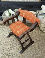 Quality Near Pair of Mahogany Antique x frame Chairs (3 of 5)