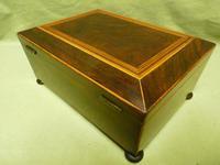Regency Rosewood Jewellery / Sewing Box - Original Tray + Accessories c.1820 (7 of 15)