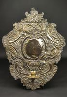 Large Early 18th Century Silvered Repoussé Wall Sconce (5 of 5)