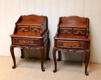 Pair of French Solid Oak Bedside Cabinets (3 of 8)
