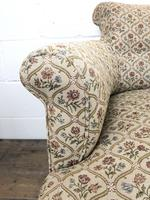 Victorian Three Piece Suite with Gold Floral Upholstery (7 of 26)