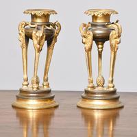 Antique George IV Bronze and Ormolu Candlesticks