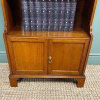 Quality Small Edwardian Figured Mahogany Antique Waterfall Bookcase (6 of 6)