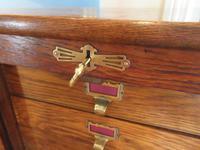 Edwardian Oak Tambour Front Filing Cabinet (4 of 8)