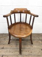 Antique Captain Style Elm Armchair (2 of 12)