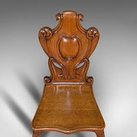 Pair of Antique Shield Back Chairs, Scottish, Oak, Hall Seat, Victorian c.1880 (10 of 12)