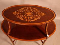 Mahogany Etegair with Marquetry Inlay (5 of 11)