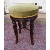 Gillows Adjustable Mahogany Piano Stool (2 of 4)
