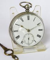 Antique Silver Fusee Pocket Watch, 1876 (2 of 6)