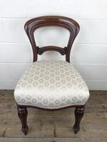 Single Victorian Mahogany Upholstered Chair (3 of 11)