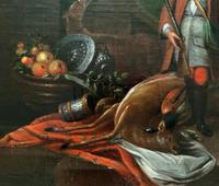 Circle of John Theodore Heins Fine Large 18th Century Hunting Oil Painting (8 of 11)