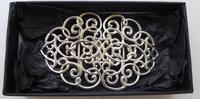 Edwardian Chester 1901 Hallmarked Solid Silver Nurses Belt Buckle Rare (3 of 6)