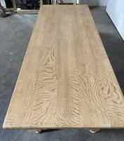 Nice Bleached Oak Farmhouse Dining Table (15 of 19)