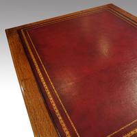 Victorian Oak Partners Desk (10 of 12)
