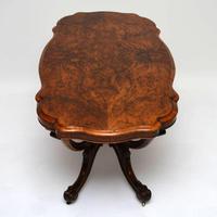 Antique Victorian Burr Walnut Centre Table (4 of 11)