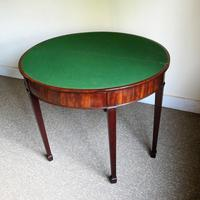 Mahogany Demi-Lune Card Table (4 of 5)