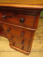 Victorian Antique Pedestal Desk, Hobbs & Co London (16 of 24)