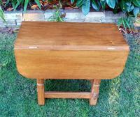 X Mouseman Beaverman Oak Drop Flap Coffee Table (4 of 12)