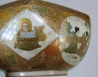 Antique Meiji Satsuma Bowl on Stand Signed (7 of 10)