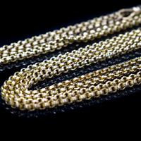 Antique Victorian 9ct 9K Gold Belcher Guard Muff Chain Necklace (5 of 9)