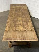 Nice Large Bleached Oak Farmhouse Dining Table With Extensions (33 of 35)