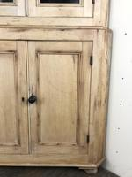 Victorian Stripped Pine Corner Cupboard with Glazed Top (6 of 11)