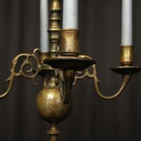 English Pair of Bronze Antique Chandeliers (6 of 10)