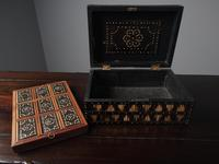 Anglo-Indian Ebony & Porcupine Quill Jewellery Box (11 of 12)