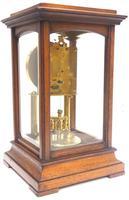Rare Gustav Becker 400-day Torsion Clock German Mantel Clock Mahogany & Bevelled Glass Case (6 of 13)
