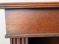 English Small Regency Style Dwarf Recessed Mahogany Open Bookcase (18 of 44)