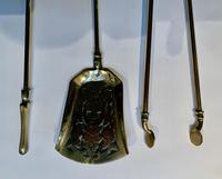 A Set of Brass Fire Irons (3 of 3)
