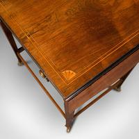 Antique Drop Leaf Sewing Table, English, Rosewood, Side, Lamp, Regency c.1820 (10 of 12)
