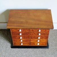 Satinwood & Walnut Victorian Collectors Chest (5 of 6)