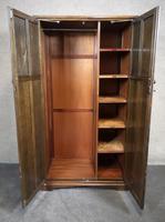 Carved Oak Linen Fold Wardrobe (7 of 10)