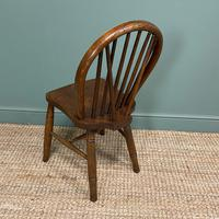 Eight Country House Elm Antique Kitchen Chairs (6 of 8)