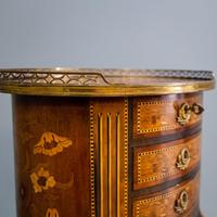 Inlaid French 3 Drawer Chest c.1900 (6 of 8)