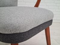 Danish lounge armchair, 60s, furniture wool, completely reupholstered (15 of 17)
