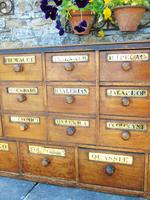 Charming Set of Antique Apothecary Drawers (6 of 10)