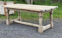 Rustic Bleached Oak French Farmhouse Dining Table (3 of 34)