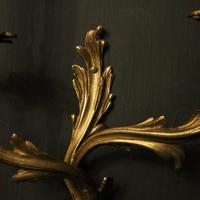 French Pair of Gilded Antique Wall Sconces (8 of 10)
