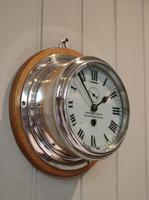 Nickel Plated Ships Bulkhead Clock (5 of 5)