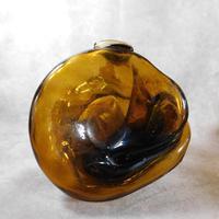 Art Nouveau, Amber Glass, Chamber Lamp (16 of 21)