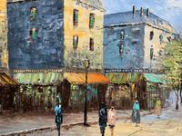 Fine Large Original Vintage Parisian Street Cityscape Impressionist Oil Painting (8 of 11)