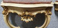 Good Pair of French Parcel Gilt Console Tables (11 of 12)