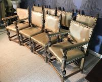Set of Eight Oak Dining Chairs (5 of 14)